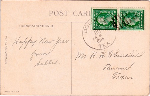 Dolores TX Webb Co 1918 postmark