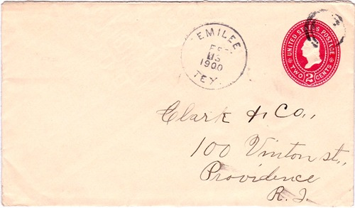 Emilee TX 1900 post mark