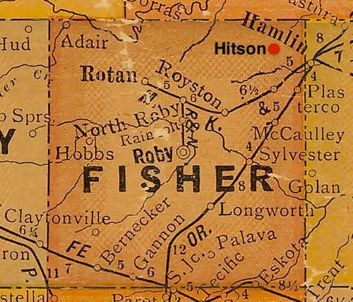 Fisher County TX vintage map