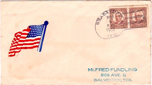 Guadalupe TX Victoria Co 1935 Postmark