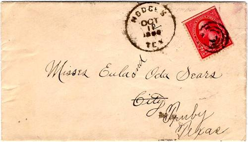 Hodges TX, Jones County, 1900 Postmark