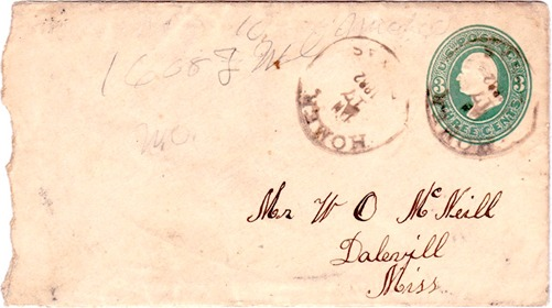 Homer TX Angelina Co 1882 Postmark