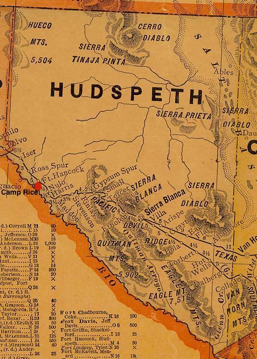 Hudspeth  County TX vintage map