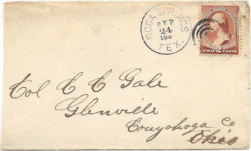 Roca Springs, Texas 1887 post mark
