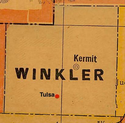 Winkler County TX vintage map