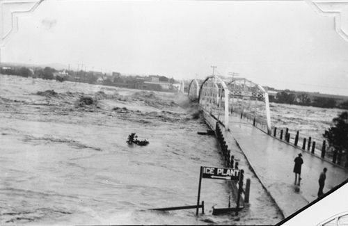 Llano TX - Llano River Bridge washed away by 1935 flood