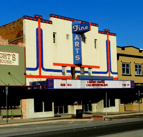 Denton TX - Fine Arts Theater Neon