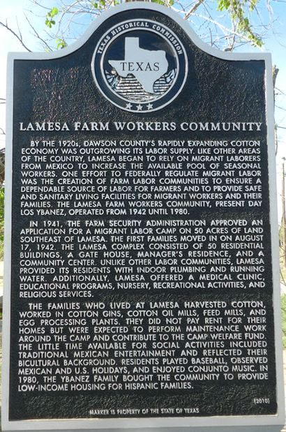 TX - Lamesa Farm Workers             Community Historical Marker