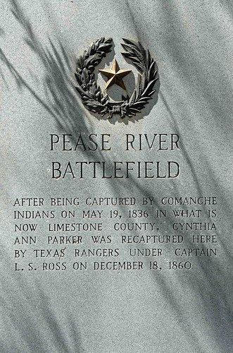 Foard County, Margaret TX, Pease River Battlefield Marker text