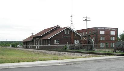 Ranger Texas Depot and Second Baptist Church