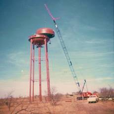 Water tower and crane, Bridgeport, Texas