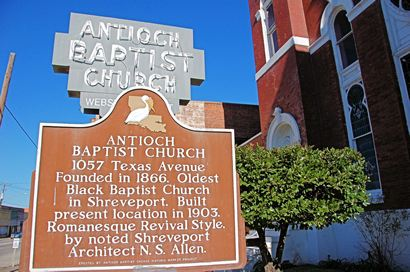 Antioch Baptist Church  marker, Shreveport LA