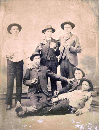 Texas  1880s - Young men drinking