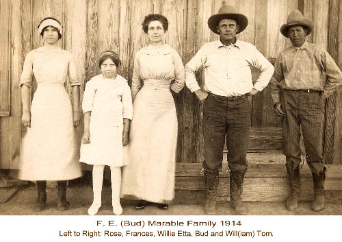 Post Texas - F.E. (Bud) Marable Family 1914