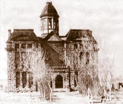 Razed 1893 Ward Counnty Courthouse, Barstow, Texas